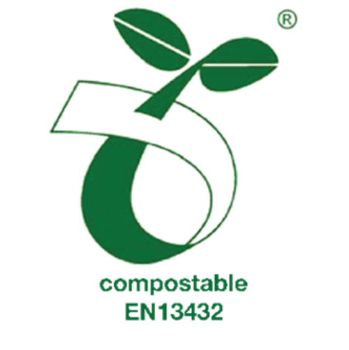 Meets EN13432 standard for compostability